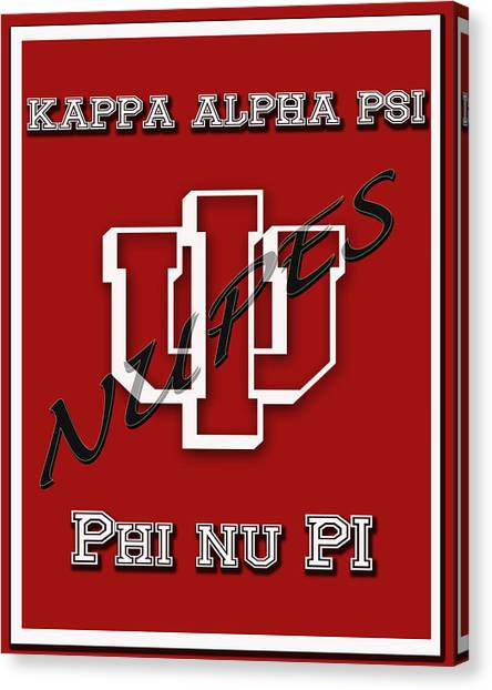 Kappa Alpha Psi Canvas Print - Nupes by Rodney Wofford