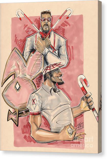 Alpha Kappa Alpha Canvas Print - Nupes by Tu-Kwon Thomas