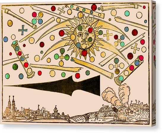 Nuremberg Ufo 1561 Canvas Print