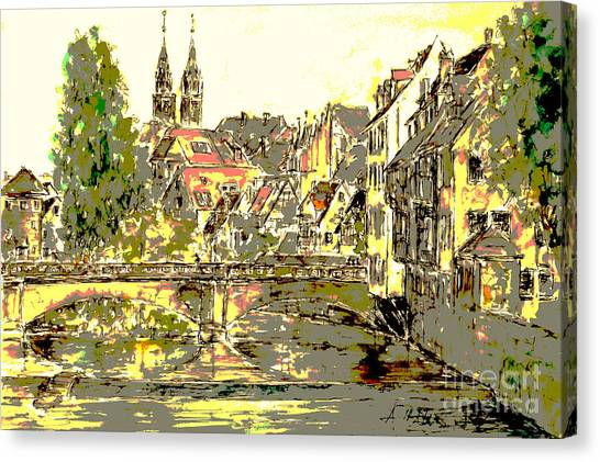Nuremberg View To St.laurence Church Canvas Print by Almo M