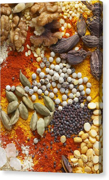 Nuts Pulses And Spices Canvas Print
