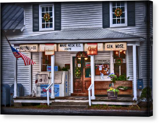 Canvas Print featuring the photograph Nuttall And Company General Merchandise by Williams-Cairns Photography LLC