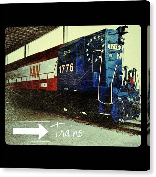 Trains Canvas Print - Nw Locomotive #1776 #phonto #altphoto by Teresa Mucha
