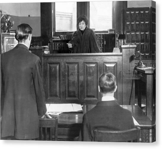 1916 Canvas Print - Ny Judge Carroll Mccomas by Underwood Archives