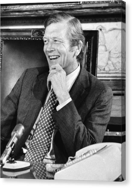 Press Conference Canvas Print - Ny Mayor John Lindsay by Underwood Archives