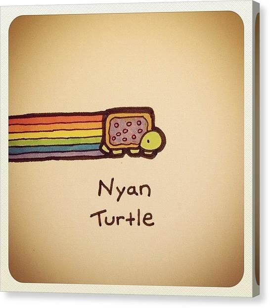 Turtles Canvas Print - Nyan Turtle #turtleadayjuly by Turtle Wayne