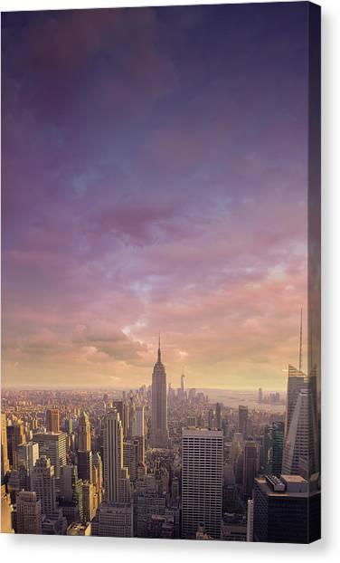 Nyc At Sunset Canvas Print