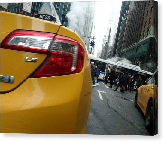 Robert Smith Music Canvas Print - Nyc Cab by TSB Art Gallery Dennis Thompson Jr Curator Photographer