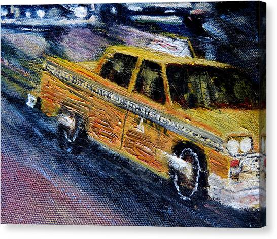 New York Taxi Street City Canvas Wall Art Picture Print Va: Hansom Cab Canvas Prints