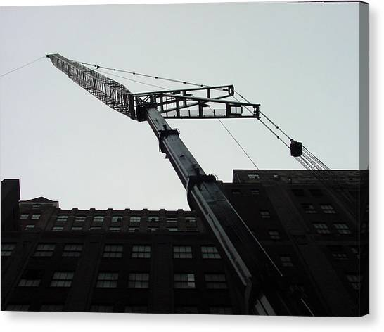 Nyc Construction Crane  Canvas Print