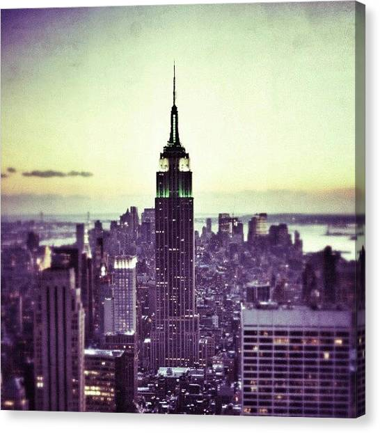 Metropolis Canvas Print - #nyc #iheartnyc #newyork #empire #deco by Jason Emmett
