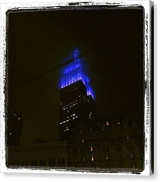 Law Enforcement Canvas Print - #nyc #newyork #empirestatebuilding by Dan Morris