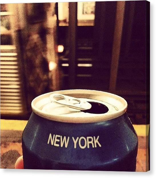 Pepsi Canvas Print - #nyc #newyork #subway #train #brooklyn by Carlos Ubeda
