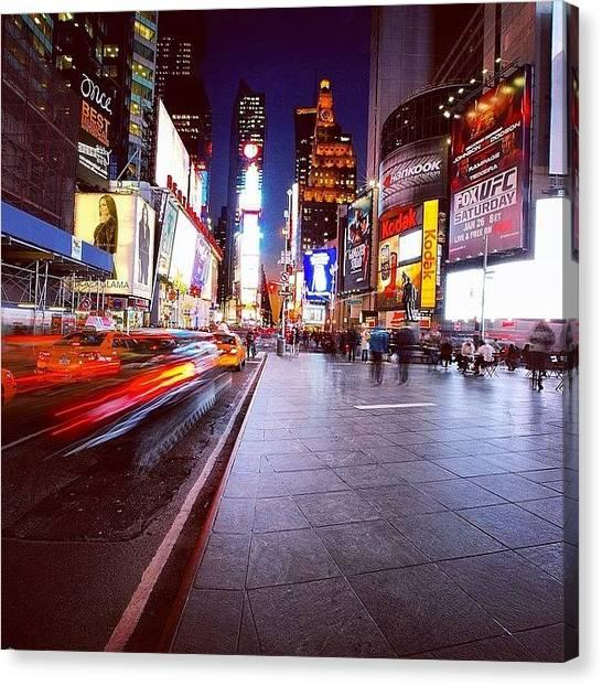 Ufc Canvas Print - #nyc #newyork #timesquare #manhattan by Dan Morris