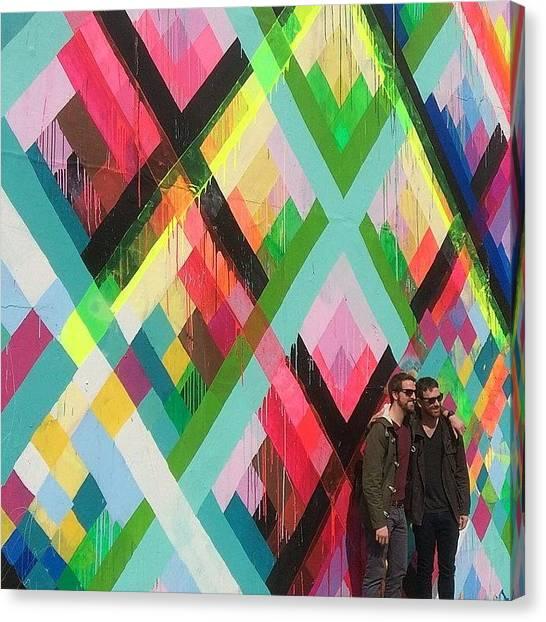 Houston Skyline Canvas Print - Nyc, Ny - Blurred Lines - Mar 20-24 by Trey Kendrick