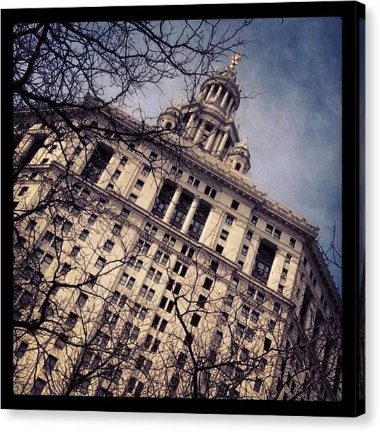 Law Enforcement Canvas Print - Nyc, Ny - Statue Topped - Mar 20-24 by Trey Kendrick