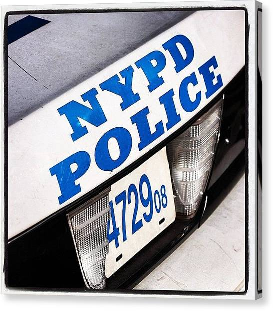 Law Enforcement Canvas Print - Nypd  by Dan Morris