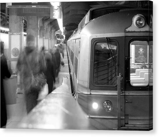 Train Canvas Print - Metro North/ct Dot Commuter Train by Mike McGlothlen