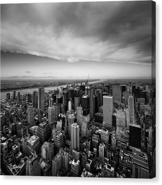 Skylines Canvas Print - Nyc Uptown by Nina Papiorek