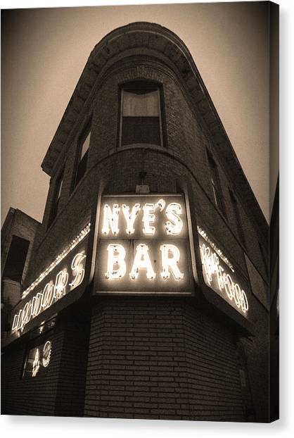 Nye's Bar Sepia V.2 Canvas Print