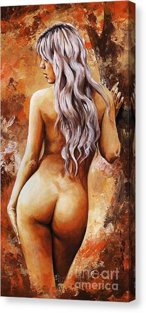 Nude Art Canvas Print - Nymph 02 by Emerico Imre Toth