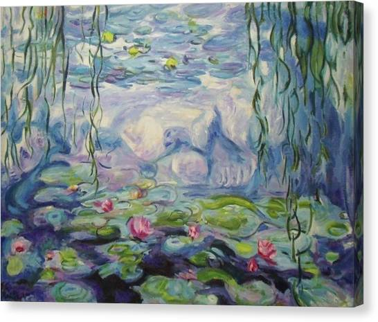 Nympheas Apres Monet Canvas Print
