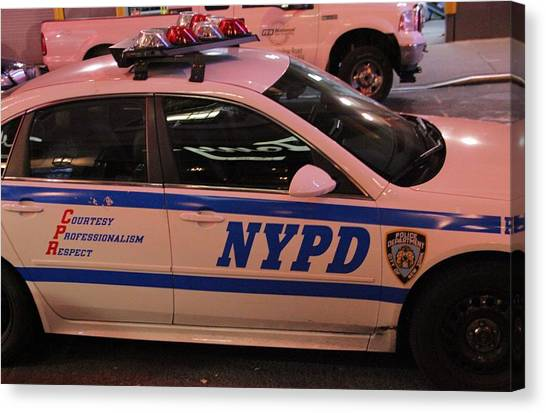 Nyfd Canvas Print - Nypd by Dan Sproul