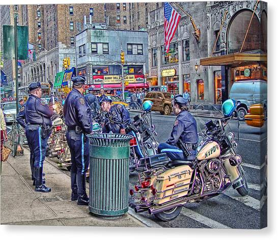 Nypd Highway Patrol Canvas Print