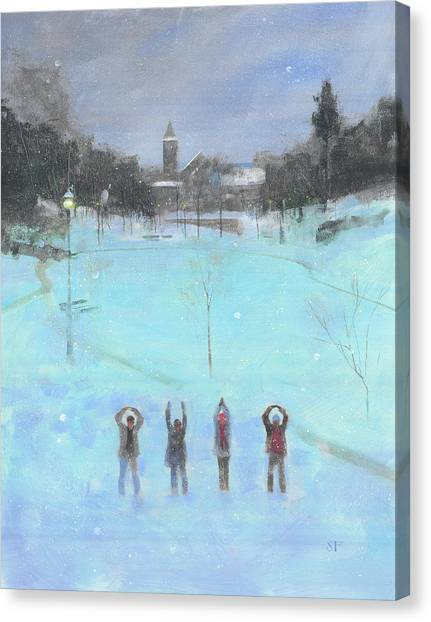 Ohio University Canvas Print - O-h-i-o by Stan Fellows