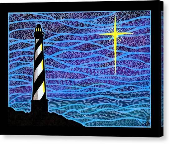O Holy Night Hatteras Canvas Print