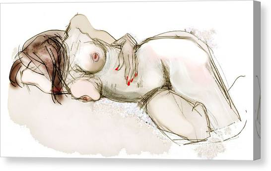 O Sleeping - Female Nude Canvas Print