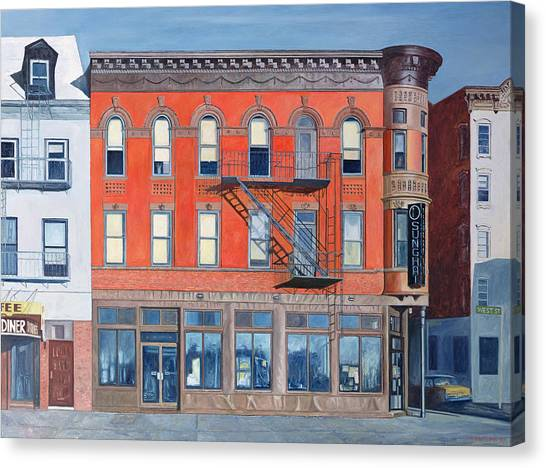 Shopfronts Canvas Print - O Sunghai Restaurant West Village by Anthony Butera