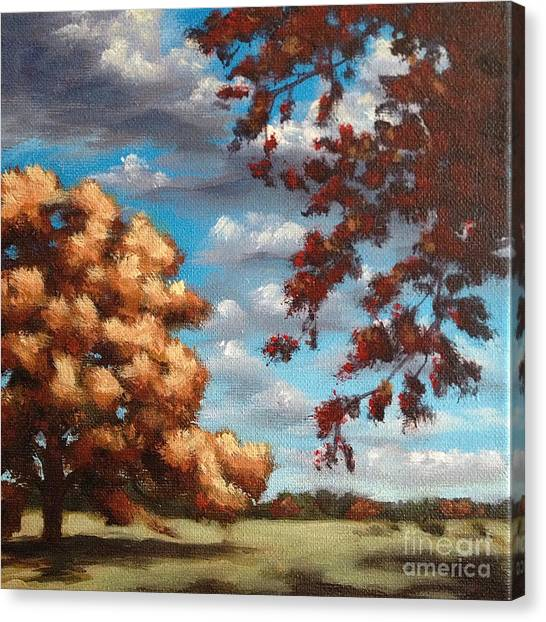 Oak At Fall Canvas Print