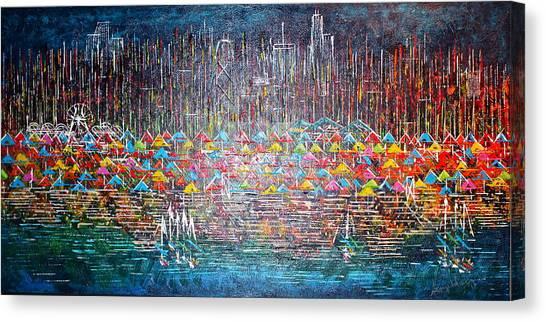 Oak Street Beach Chicago II -sold Canvas Print