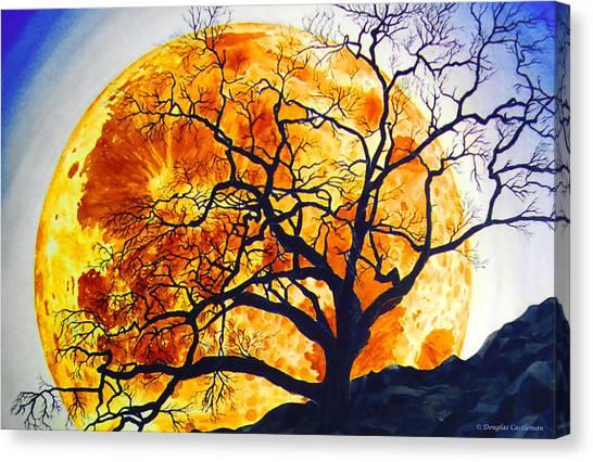 Oak Tree Moonrise Canvas Print