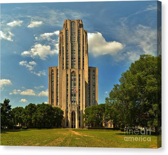 Oakland University Canvas Print - Oakland Cathedral Of Learning by Adam Jewell