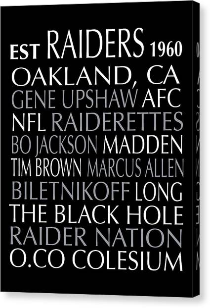 Oakland Raiders Canvas Print