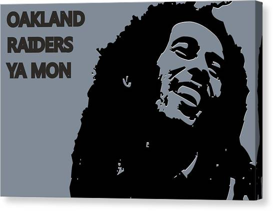 Oakland Raiders Canvas Print - Oakland Raiders Ya Mon by Joe Hamilton