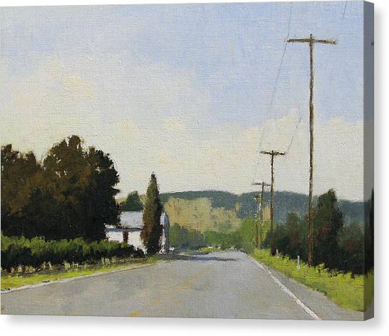 Robert Frank Canvas Print - Oakville Grade Road by Robert Frank