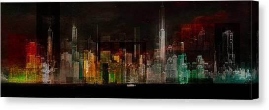 Panorama Canvas Print - Oasis -  Ready Player One by Carmine Chiriac?
