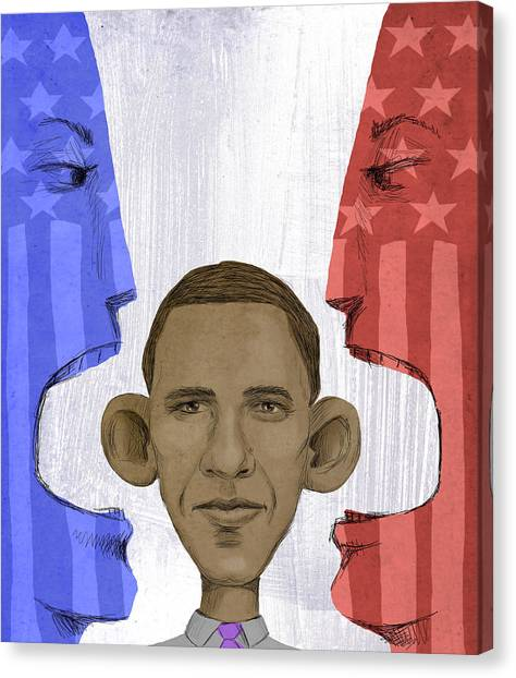 Obama Poster Canvas Print - Obama by Steve Dininno