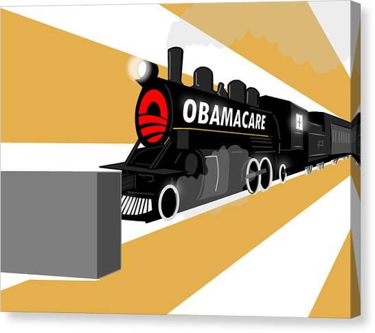 Obamacare Canvas Print - Obamacare by Daniel  Montesinos