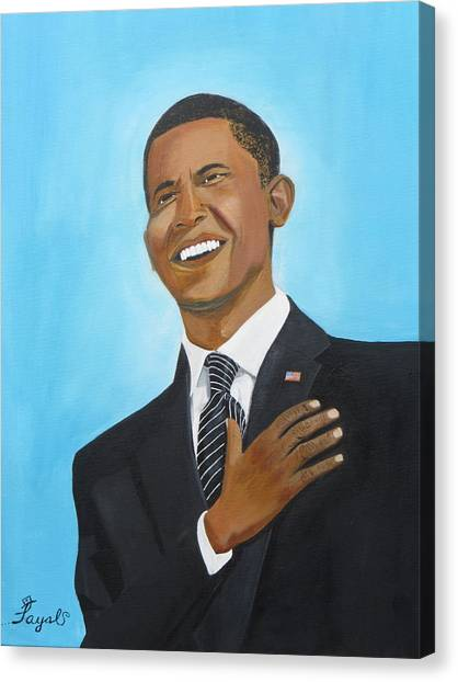 Obama's First Inauguration Canvas Print by Artistic Indian Nurse