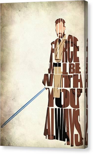 Jedi Canvas Print - Obi-wan Kenobi - Ewan Mcgregor by Inspirowl Design
