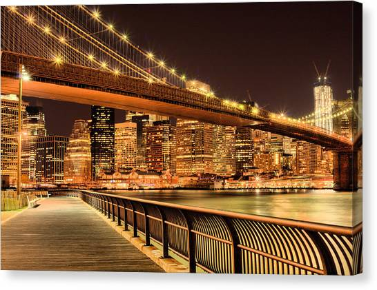 The City That Never Sleeps Canvas Print - Obligatory  by JC Findley