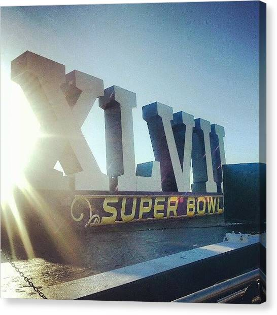 Superbowl Canvas Print - Obligatory #superbowl Pic #neworleans by Mark Mayhew