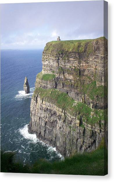 Cliffs Of Moher - O'brien's Tower Canvas Print