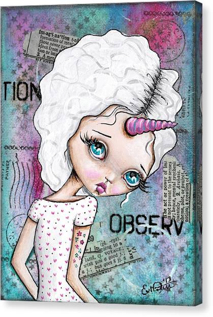 Observation Canvas Print