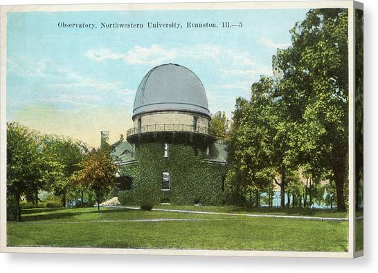 Northwestern University Canvas Print - Observatory At The  Northwestern by Mary Evans Picture Library