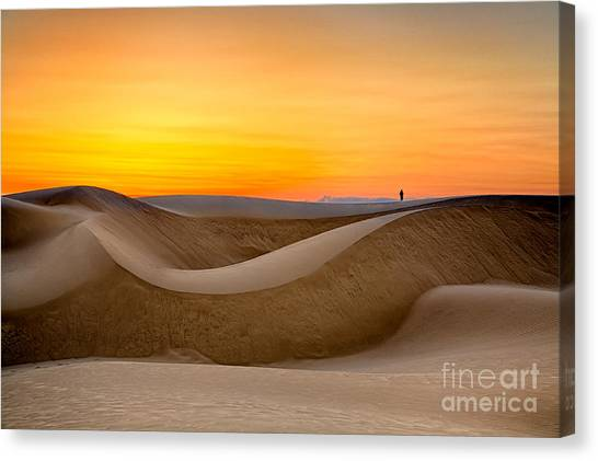 Observing Sunset At The Oceano Dunes Canvas Print